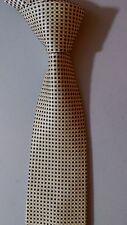 NAUTICA Silk Necktie Yellow & Blue Mini Square Check Classic Excellent Condition