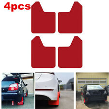 4x Car Mud Flaps Splash Guard Fenders Front Rear w/ Screws Red Universal Fit
