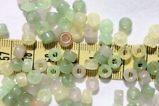 6mm Crow Roller Glass Bead Light Pink,Yellow and Green 100pcs