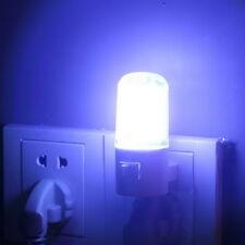 4 LED Wall Mounting Bedroom Night Lamp Licht Light Plug Lighting Bulb AC 1W LS