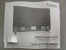 VIZIO TV QUICK START GUIDE MANUAL MODELS E50-C1 E55-C1 NEW