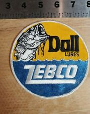 Vintage Zebco Doll Lure Logo Patch fishing tackle Rare