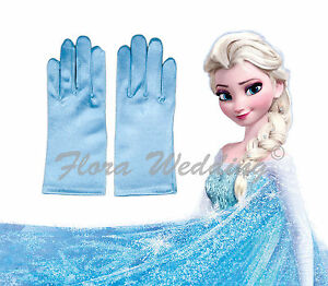 Disney Frozen Elsa Magical Girl's Satin Gloves for snow queen's costume dress