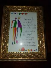 """True Things""Brian Andreas StoryPeople Blank Note Card in a 5x7Decorative Frame"