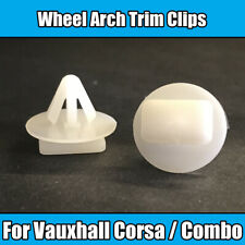 10x Clips For Vauxhall Corsa C Combo Wheel Arch Trim Fasteners White Plastic