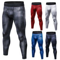 Mens Sport Gym Skin Tights Slim Trousers Compression Base Bodybuilding Pants