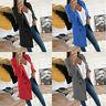 Women Slim Winter Warm Wool Lapel Long Jacket Overcoat Outwear Coat Trench Parka