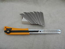 WINDSCREEN CUTTING OUT TOOL PLUS 100 x SOLID BLADES (Windscreen Fitting etc)