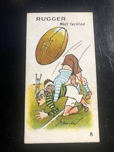 1928 Major Drapkin   Game Of Sporting Snap #8 Rugger Well Tackled