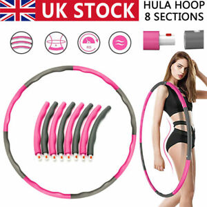 Collapsible 8 knots Weighted Hula Hoop Fitness Padded ABS Exercise Gym Workout
