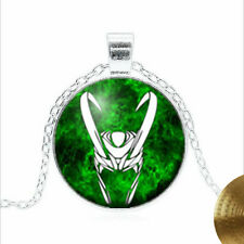 Loki Necklace Tibet silver Glass dome Necklace chain Pendant Wholesale