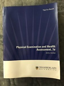 Physical Examination and Health Assessment by Carolyn Jarvis (Softcover , 7th...