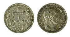 pcc1840_78) HUNGARY Franz Joseph I 1 Korona 1915 AG Toned