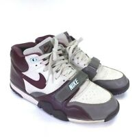 Nike Mens Air Trainer 1 Sneakers Beige 306530-221 Trainers Lace Up Mid Top 11