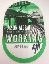 Jason Aldean local crew backstage pass Night train collectible concert NEW