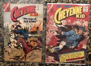 Charlton Comic Lot - Cheyenne Kid # 54 & 58 - Ungraded Silver Age - VG 5.0