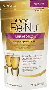 SkinPep Collagen Re-Nu Liquid Shot Sachet - The Anti-Ageing Collagen Drink 70g