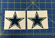 Dallas Cowboy Helmet Decals Chrome Blue - Mini Helmet Nike Pro Combat Edition