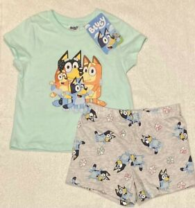 Bluey Green Pyjamas Boys Girls Unisex Sizes 2  BRAND NEW WITH TAGS