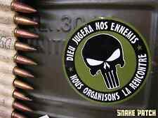STICKERS - LOT de 2 AUTOCOLLANTS punisher dieu jugera nos ennemis SNAKE PATCH