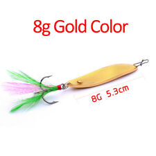 1PC Metal Casting Fishing Lures with Feathers for Pike Bass Walleye Salmon Trout