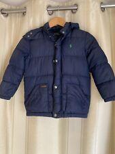 Genuine Boys Ralph Lauren Navy Blue Puffa Coat Jacket Age 7 Very Good Condition