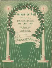 Cantique De Noel for Voice and Piano, 1935 Christmas Music 2nd version