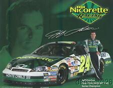 2006 Jeff Gordon Nicorette Chevy Monte Carlo NASCAR postcard