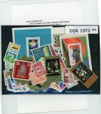 Germany DDR Complete Mint  Year Set 1973 at 1/3 Scott Catalog Price