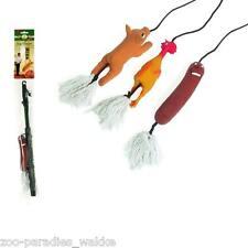 Trainingsangel / Hunde Spielangel / Reizangel Latex Schwein, Huhn, Wurst   47450