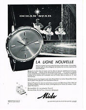 PUBLICITE ADVERTISING  1959   MIDO  montre OCEAN STAR