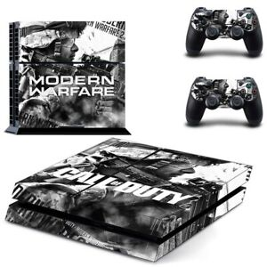PS4 Playstation 4 Console Skin Decal Sticker COD Modern Warfare Custom Design