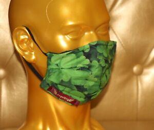 angeldog_Exclusiv Alltagsmaske Stoffmaske_Irland Kleeblatt_Zeigen Sie Stil_Gr: M