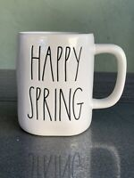 "Rae Dunn Ivory ""Happy Spring"" Mug Coffee Easter Collection LL New Sticker"