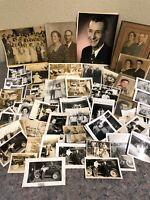 Large Lot Of Vintage Snapshot Photos - Cars - Hospital - Tinted