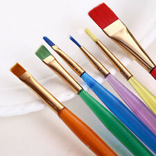 6Pcs Candy Color Nylon Hair Watercolor Round Pointed Tip Art Painting Brush Set