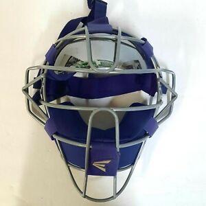 Easton Catchers Traditional Face Mask Adult Purple Grey W/ Sun Visor Baseball