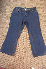 womens cj banks dark wash modern fit denin jeans size 14 w petite 33 x 25