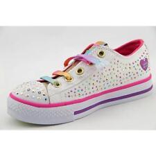 Chaussures blanches Skechers en toile pour fille de 2 à 16 ans
