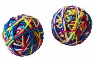 Spot Sew Much Fun Yarn Ball Cat Toy Multi 2.5 in, 2 pk   Free Shipping