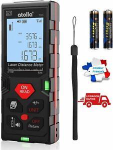 Télémètre Laser Numérique 60M Metre Laser Avec 2 Niveaux à Bulle écran LCD IP54