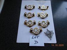 SEVEN SOLID BRASS SWAN NECK DRAWER HANDLES DRAWER FRONT HANDLES