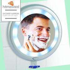 Fog less Mirror Shave Under Shower 12 LED lights Built-in razor holder