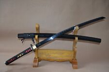 Hand Forged Japanese Practise Real Sword Katana 1060 high Carbon Steel Black