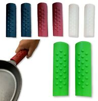 2PCS Silicone Hot Handle Holder Pot Holder Cast Iron Skillets Sleeve Cover Grip