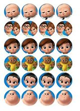 24 x Boss Baby Edible Image Cupcake Toppers Pre-Cut