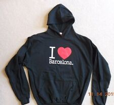 Spain Barcelona Unisex XL Black Hoodie Hooded Sweatshirt NWOT