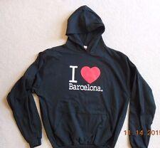 Spain Barcelona Unisex XL Black Hoodie Hooded Sweatshirt NWOT