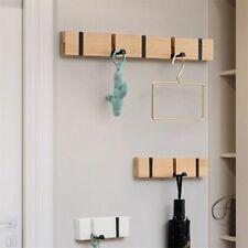 Wooden Hook Wall Mounted Foldable Durable for Bedroom Bathroom Hang Towel Coat
