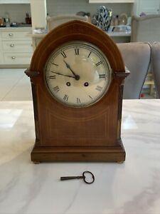 Antique Inlaid Mantel Clock
